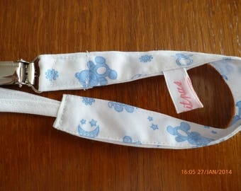 Pacifier white patterned blue ref: 7144341