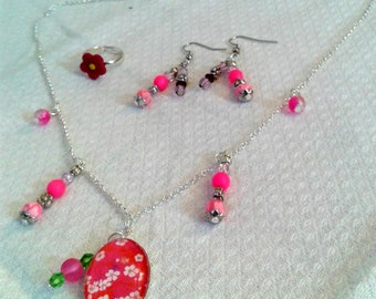 Girly pink and silver adornment