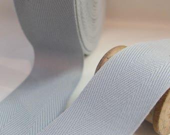 Ribbon Twill grey 32.5 mm