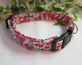 Liberty wiltshire fabric dog collar