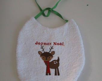 "My first Christmas Baby bib ""Great rene Santa Claus"""
