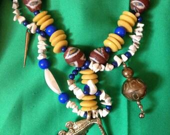 Necklace creator spirit vintage ethnic tribal amulet