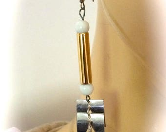 Geometric modernist designer earrings