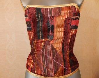 Gothic steampunk corset baroque patchwork