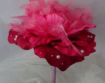 original round bridal bouquet