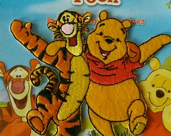 fusible applique patch iron winnie pooh and Tigger l