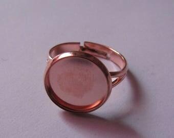 copper color adjustable ring for cabochon 12mm