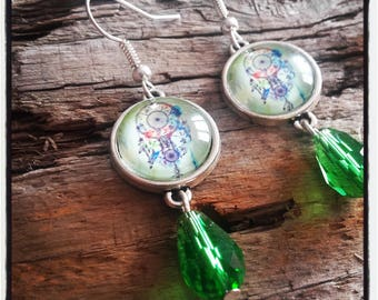 Earrings silver and cabochon dream dream