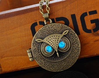 OWL Locket Locket necklace bronze