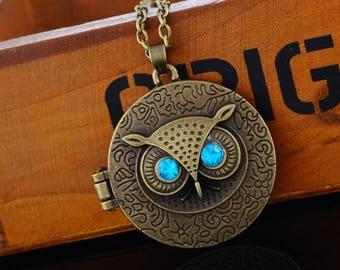 OWL Locket Locket necklace bronze