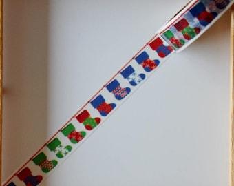"Masking tape - pattern ""Christmas stocking"" - 1.5 cm x 10 m"
