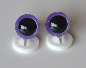 EYES secure 12mm purple for toy or stuffed animal