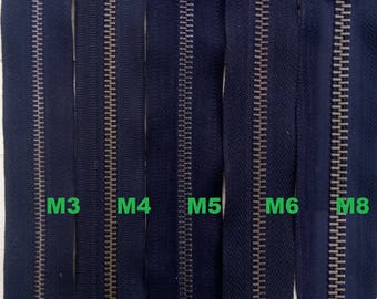 Zip up pants Black mesh Metal Bronze M3 M4 M5 M6 or M8 6cm to 20cm