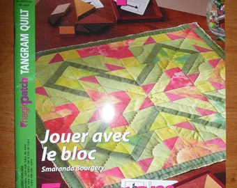french magazine  : magic patch n. 77 - 2008 tangram quilt - block - in good condition