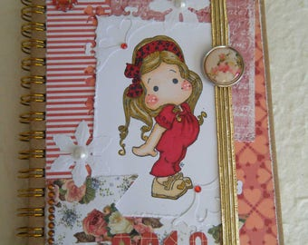 Agenda 2018 decorated way scrapbooking with a garden theme character!