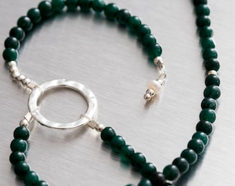 Aventurine beaded 'Y' necklace