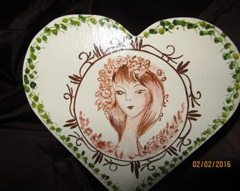 wooden heart box Valentine's day special