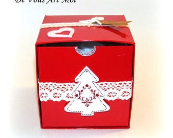 Gift box, box gift packaging for my Christmas ornaments Christmas custom spherical round ptites mouse