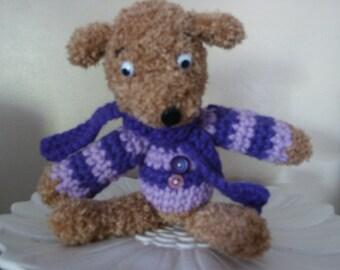 Hector the dog crochet wool blanket