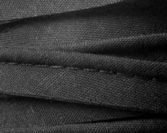 Black / plain cotton piping 10mm wide, cut 50 cm