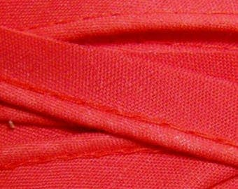 Red / 10mm wide plain cotton piping, cut 50 cm
