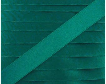 Satin ribbon / green duck / width 10mm, 50cm cut