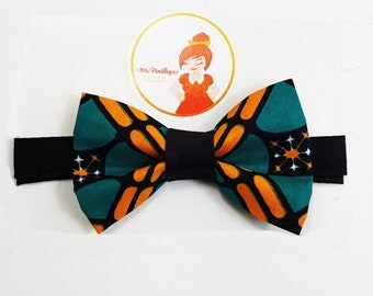 Bow tie green and orange wax