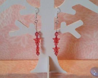 Earrings - Red Star