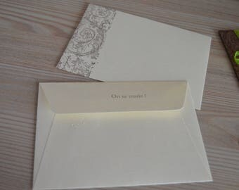 10 envelopes size 110x220mm matched with your choice to share