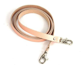 Thin leather strap pink clear lobster