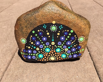 Mandala stone in beautiful colors