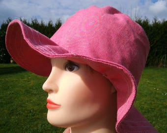 Sunbonnet pink denim cotton
