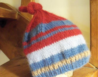 Hand knitted 6-12 months baby Pixie Hat