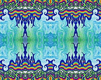 Psychedelic Mountain Print