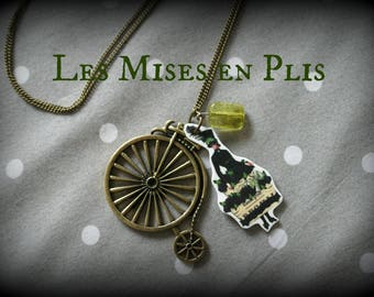 Green bridesmaid necklace - steampunk
