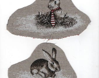 2 rabbits textile applications: get your hole Jeannot Lapin!