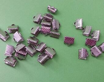 5 clasps claw pr necklace or Bracelet silver matte 8x6mm