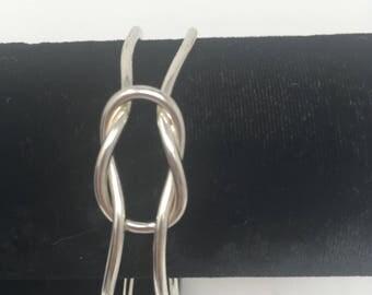 Sterling love knot bracelet
