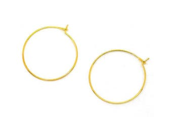 10 glass rings or earring 29x25mm flutes