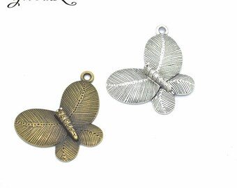 1 charm pendant Butterfly 40 x 30 mm