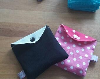 pochette pour serviettes hygiénique tissus