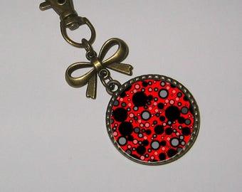 Cabochons glass 25mm bag charm keychain