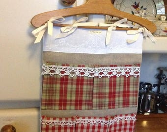Tidy wall fabric matching: linen, gingham and Plaid