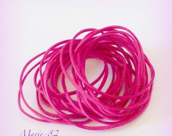Cord / 2.5 mm suede lace / pink Fuchsia - 1.50 M