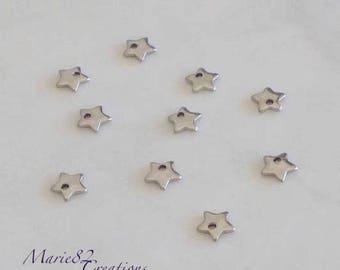 50 mini stars - charm stainless steel