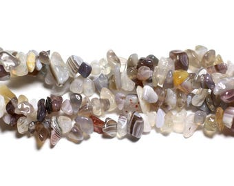 130pc about - the rock Chips 5-12mm Botswana Agate stone beads - 4558550020796