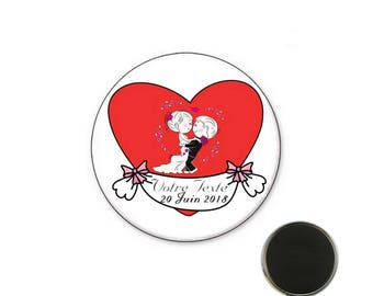 Personalized wedding - 25 mm Magnet magnet
