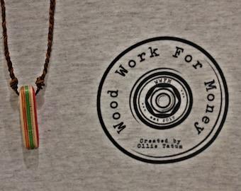 Handmade Wooden Skateboard Necklace