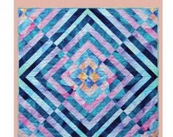 Fractured Flowers quilt pattern by Cindi McCracken Designs