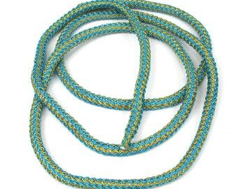 Large 5 mm X 50 cm two-tone nylon braided cord